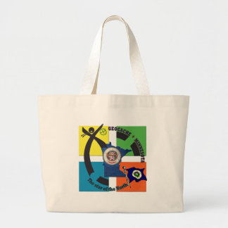 MINNESOTA STATE MOTTO GEOCACHER LARGE TOTE BAG