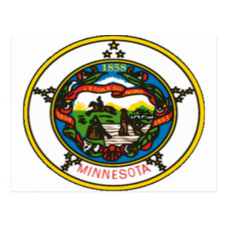 Minnesota State Seal Postcard