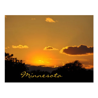 Minnesota Sunset Postcard