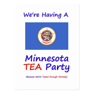 Minnesota TEA Party - We're Taxed Enough Already! Postcard