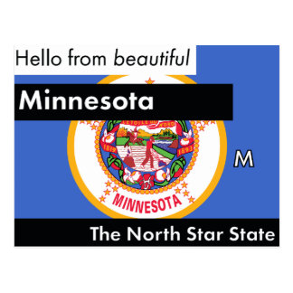 Minnesota The North Star State Postcard
