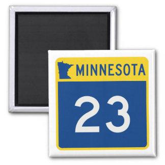 Minnesota Trunk Highway 23 Square Magnet