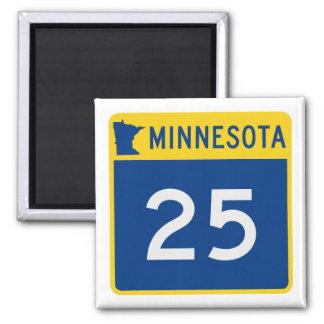 Minnesota Trunk Highway 25 Square Magnet