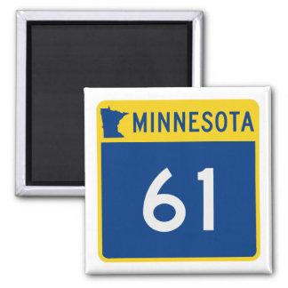 Minnesota Trunk Highway 61 Square Magnet