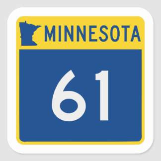 Minnesota Trunk Highway 61 Square Sticker