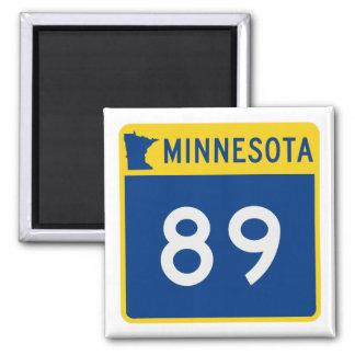Minnesota Trunk Highway 89 Square Magnet