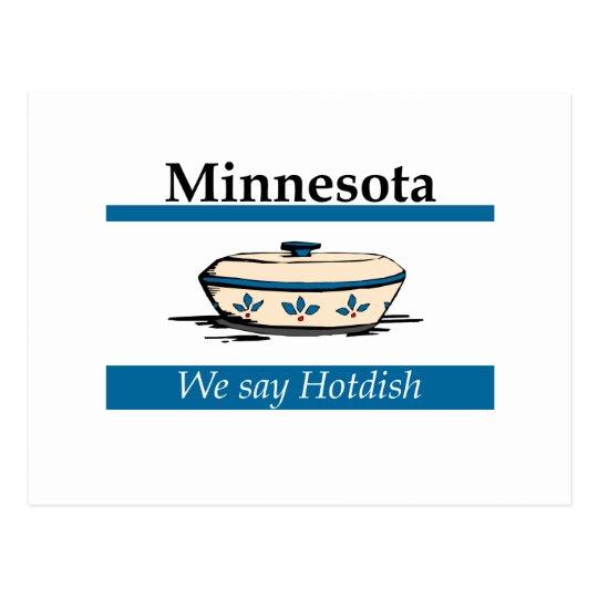Minnesota: We Say Hotdish Postcard