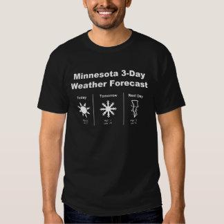 Minnesota Weather Forecast T Shirt