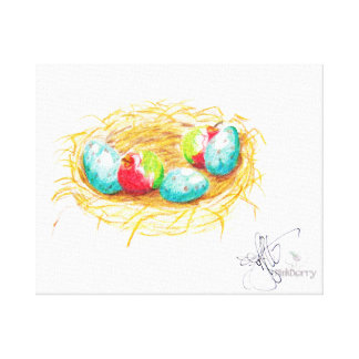 Minni Apples and Robin Eggs Canvas Print