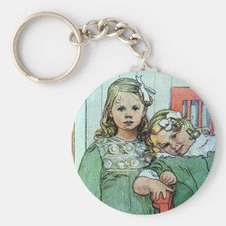 Minni un Essi Sisters Together Basic Round Button Keychain