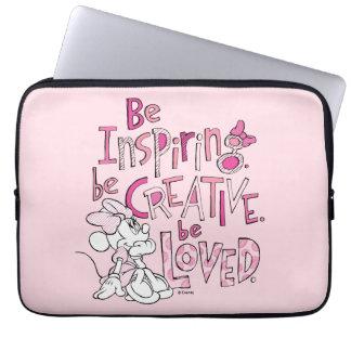 Minnie   Be Inspiring Laptop Sleeve