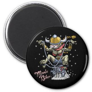 Minnie Biker 2 Inch Round Magnet