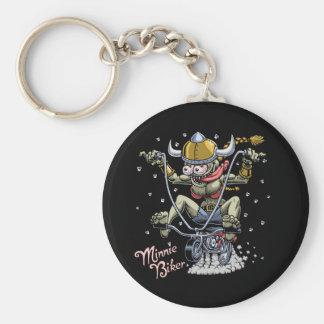 Minnie Biker Keychain