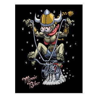 Minnie Biker Postcard