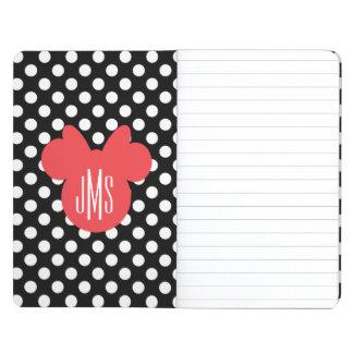 Minnie | Black and White Polka Dot Monogram Journal