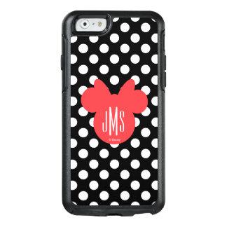 Minnie | Black and White Polka Dot Monogram OtterBox iPhone 6/6s Case