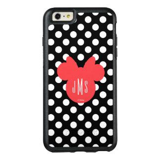 Minnie | Black and White Polka Dot Monogram OtterBox iPhone 6/6s Plus Case