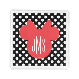 Minnie | Black and White Polka Dot Monogram Perfume Tray