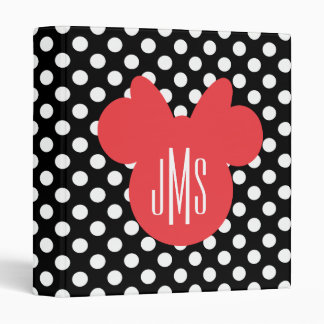 Minnie | Black and White Polka Dot Monogram Vinyl Binders