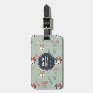 Minnie & Daisy Monogram | Dream Catcher Pattern Luggage Tag