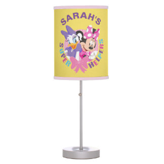 Minnie & Daisy | Super Helpers - Add your Name Table Lamp