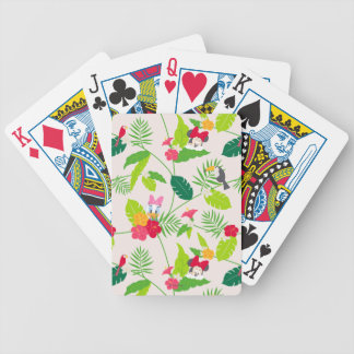 Minnie & Daisy | Tropical Pattern Bicycle Playing Cards