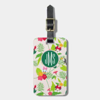 Minnie & Daisy | Tropical Pattern Monogram Luggage Tag