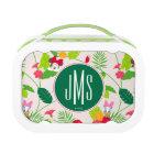 Minnie & Daisy | Tropical Pattern Monogram Lunch Box