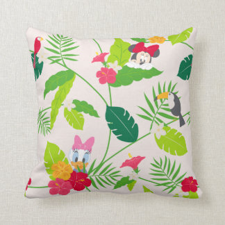 Minnie & Daisy | Tropical Pattern Throw Pillow