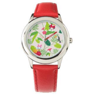 Minnie & Daisy   Tropical Pattern Wrist Watches