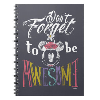 Minnie | Don't Forget To Be Awesome Note Book