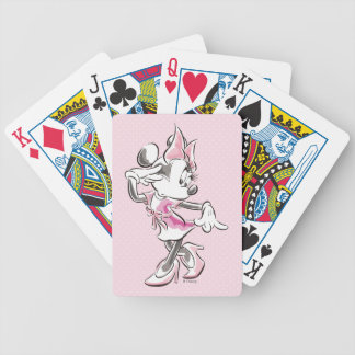 Minnie | Elegant Pose Watercolor Bicycle Playing Cards