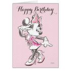 Minnie   Elegant Pose Watercolor Card