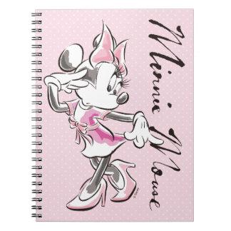 Minnie | Elegant Pose Watercolor Notebook