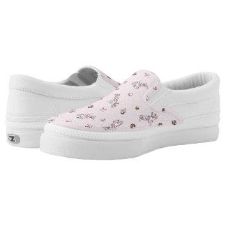 Minnie | Elegant Pose Watercolor Slip-On Sneakers