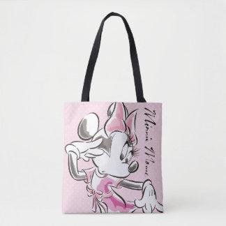 Minnie | Elegant Pose Watercolor Tote Bag