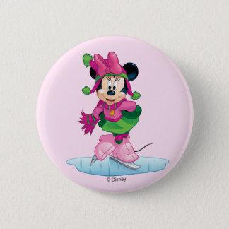 Minnie Ice Skating 2 Inch Round Button