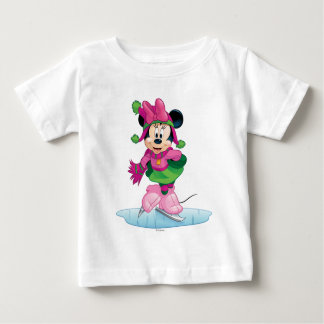 Minnie Ice Skating Baby T-Shirt