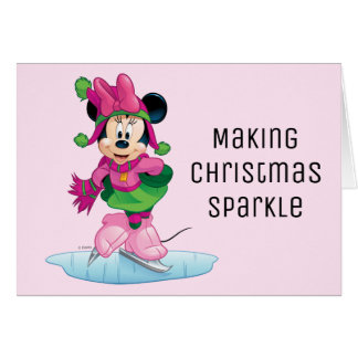 Minnie Ice Skating Card