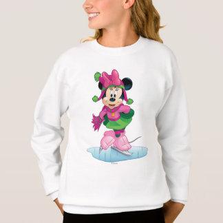 Minnie Ice Skating Sweatshirt