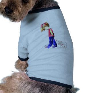 Minnie-j'art numérique de marche de chien de garço t-shirt pour animal domestique