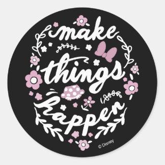 Minnie | Make Things Happen Round Sticker