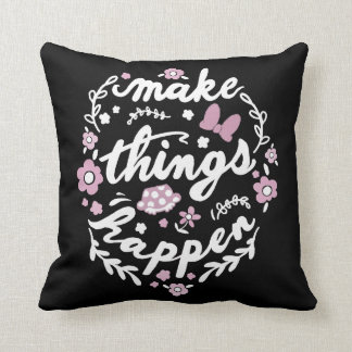 Minnie | Make Things Happen Throw Pillow