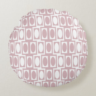 Minnie Mauve Mod Oval & Rectangle Round Pillow