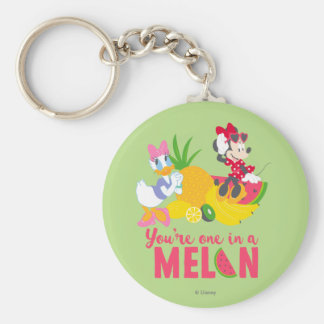 Minnie | Minnie Says Your'e One In A Melon Basic Round Button Keychain
