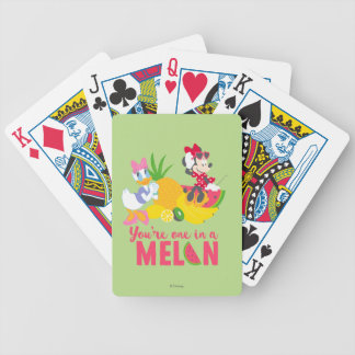 Minnie | Minnie Says Your'e One In A Melon Bicycle Playing Cards