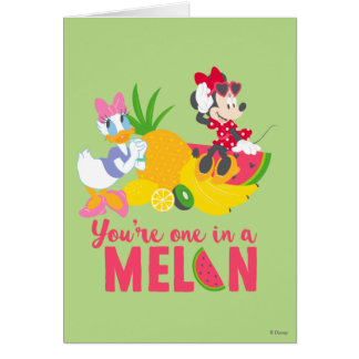 Minnie | Minnie Says Your'e One In A Melon Card