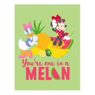 Minnie | Minnie Says Your'e One In A Melon Postcard