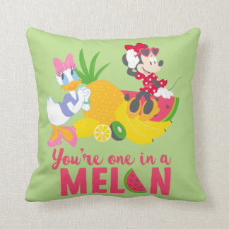 Minnie | Minnie Says Your'e One In A Melon Throw Pillow