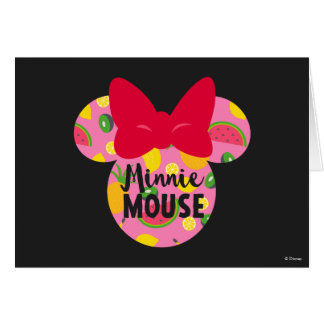 Minnie | Minnie Tropical Logo Card